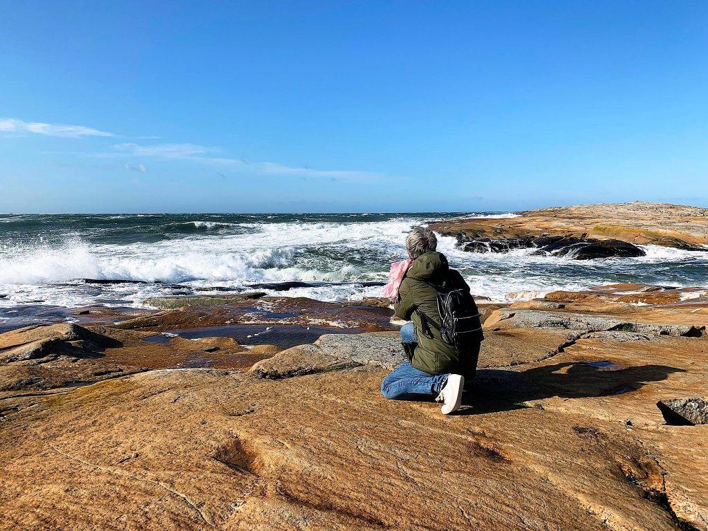 Å sette seg på huk var helt klart en fordel når vi besøkte Amerika på Hvaler