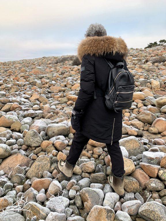 Til tross for kuldegrader var det ikke glatt på rullesteinene - Hvaler-skjærgården IMG_4849 (2)