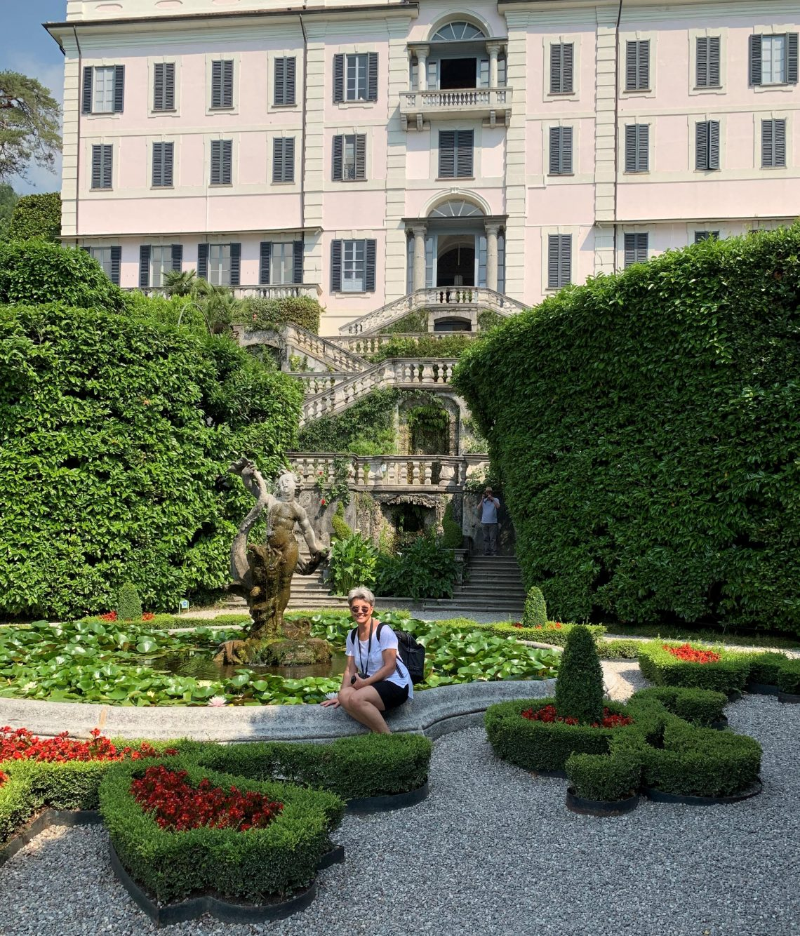 Hagen rund Villa Carlotta i Tremezzo ved Comosjøen - gammel og erværdig arkitektur