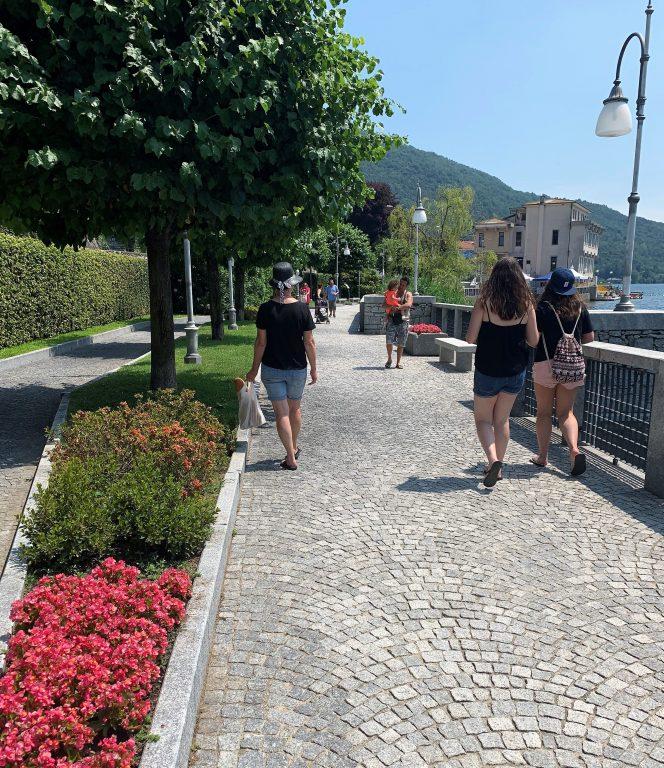 På bobilferie i Lago di Mergozzo, Nord-Italia - veien til og fra sentrum