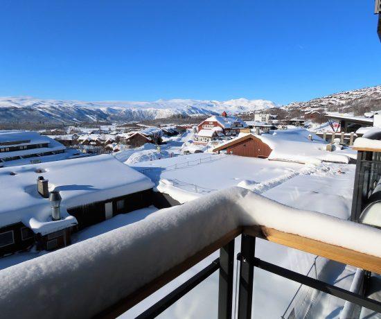 Bo godt året rundt på Beitostølen -Utsikt fra leil