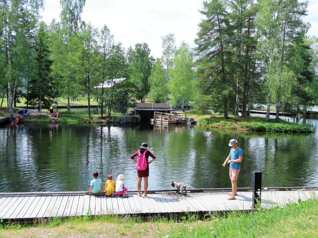 Vannet ved Telemark kanalcamping