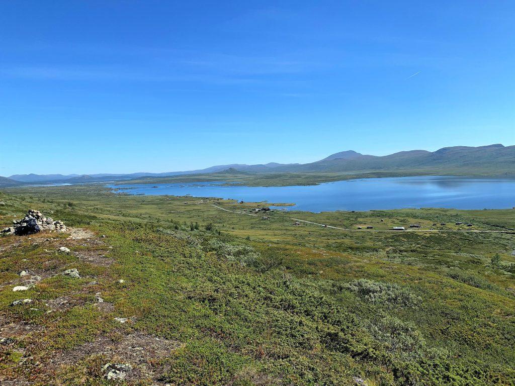 Vinstervatn byr på vakker natur og beitende dyr - Utsikt fra en fjelltur i området
