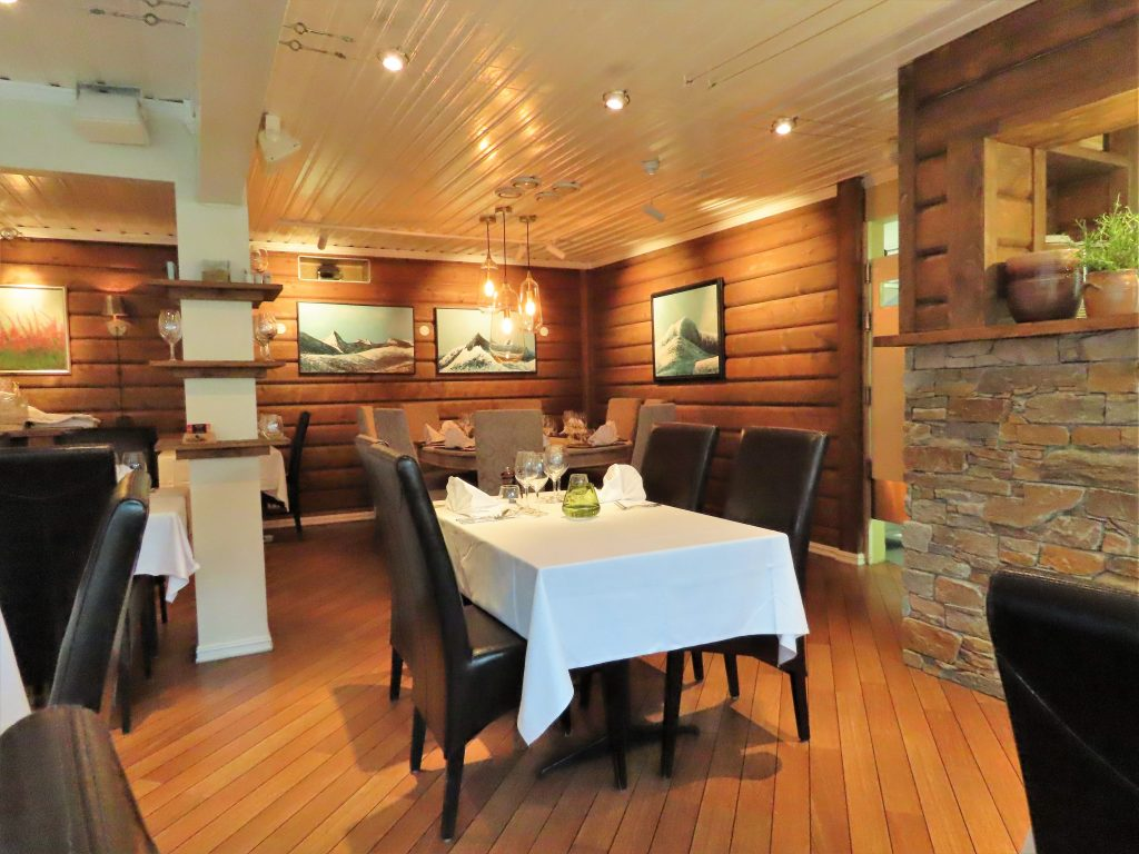 Interiøret på restauranten heimatt på Beitostølen