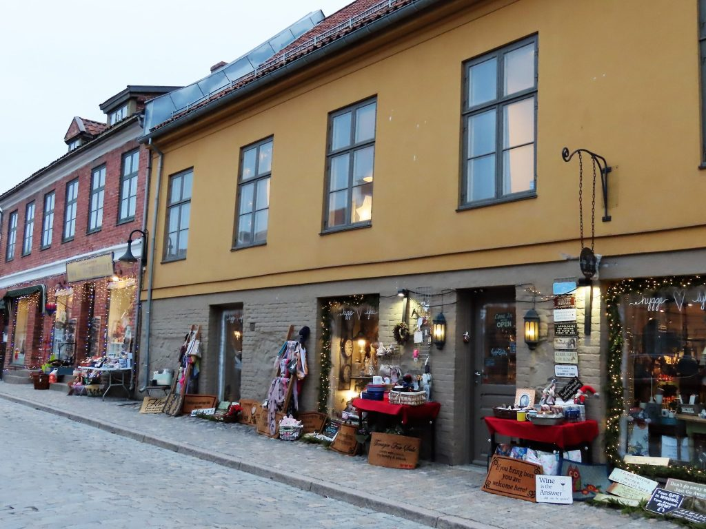 Handlegater med nisjebutikker finner du i Gamlebyen, Fredrikstad