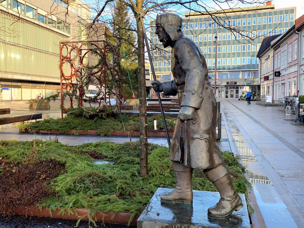 Gjensidigemannen på Stortorvet i Fredrikstad