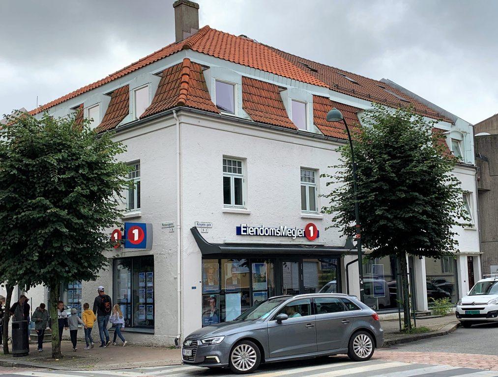 En kuriositet - eiendomsmeglerkontoret mitt da jeg bodde i Kristiansand
