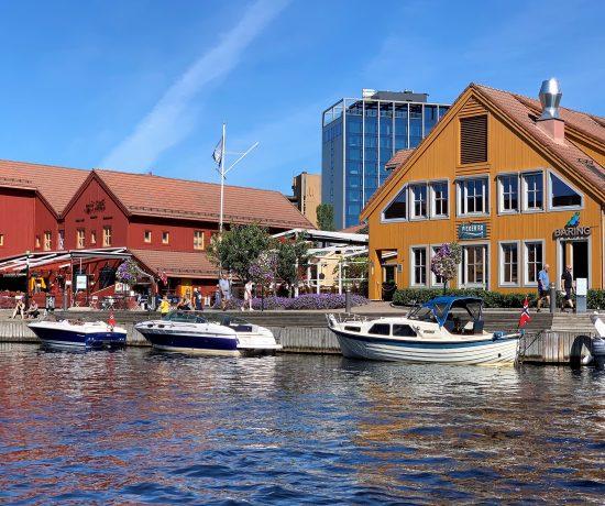 Fra fiskebrygga i Kristiansand