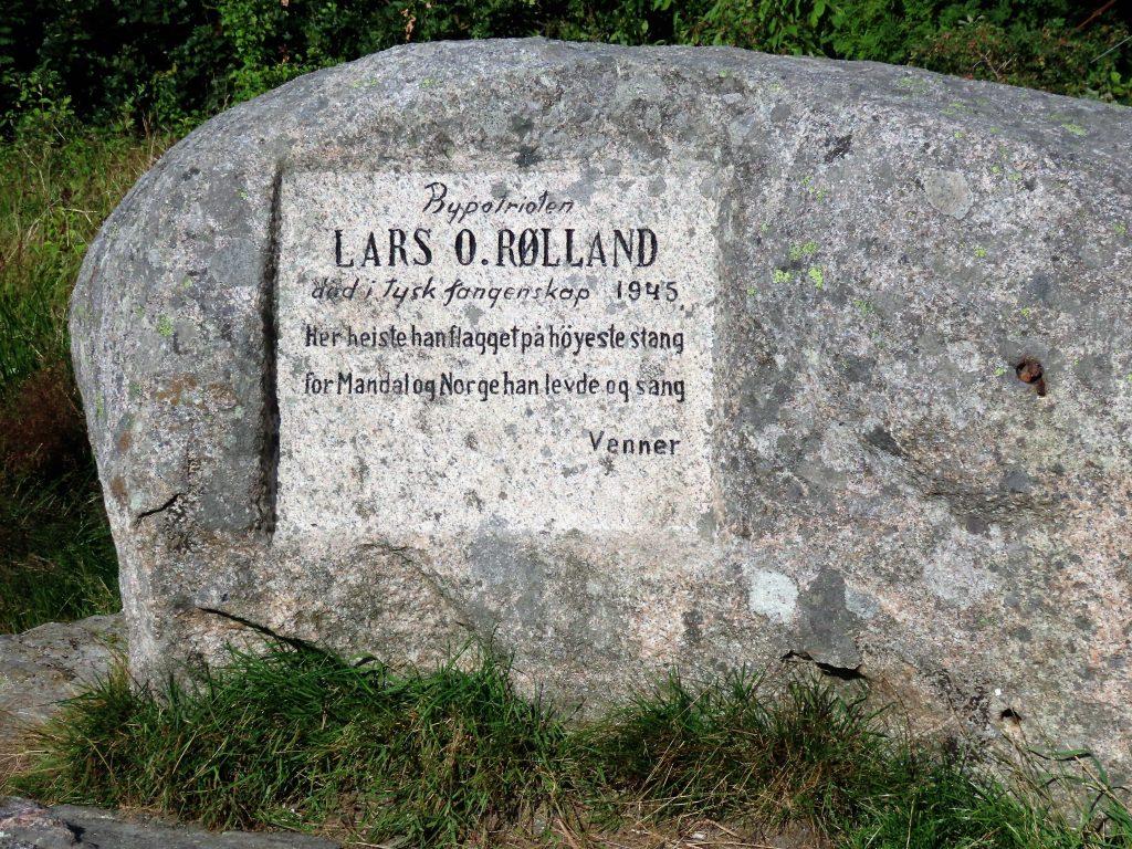 Minnesteinen på Uranienborg i Mandal