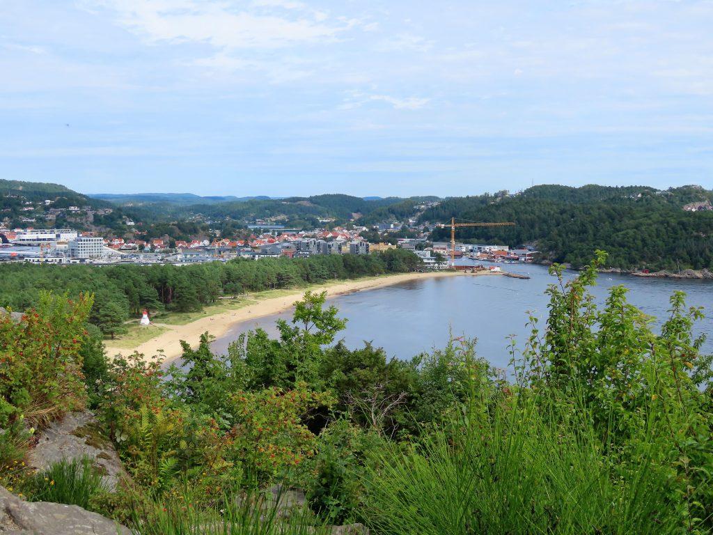 Utsikt fra Hobdeheia over Sjøsanden