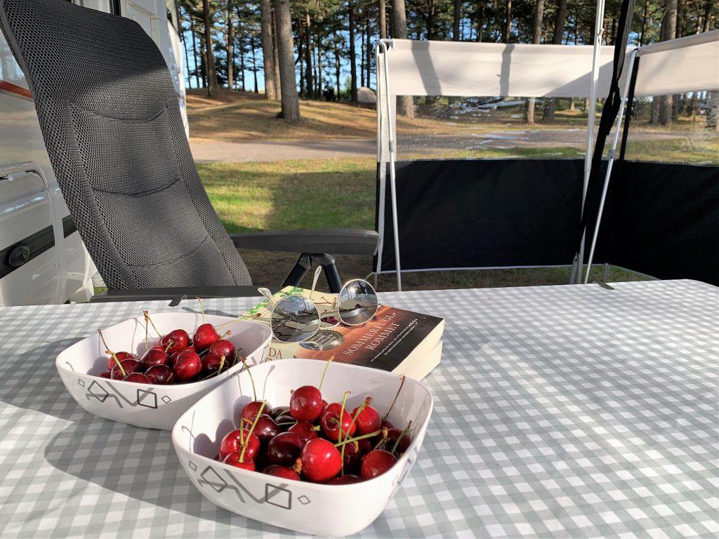 Lesetid ved Hjalmar-bobil på Sjøsanden