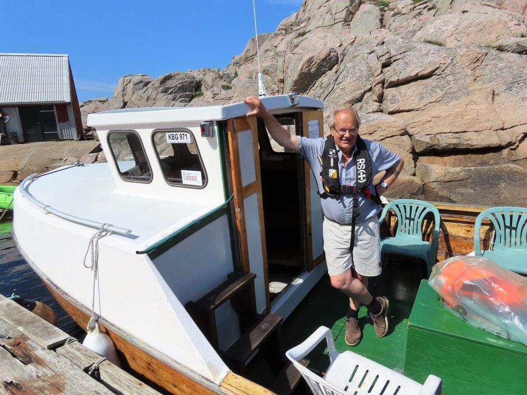 Båten Odin og båtfører fra Ryvingen Fyrs venner