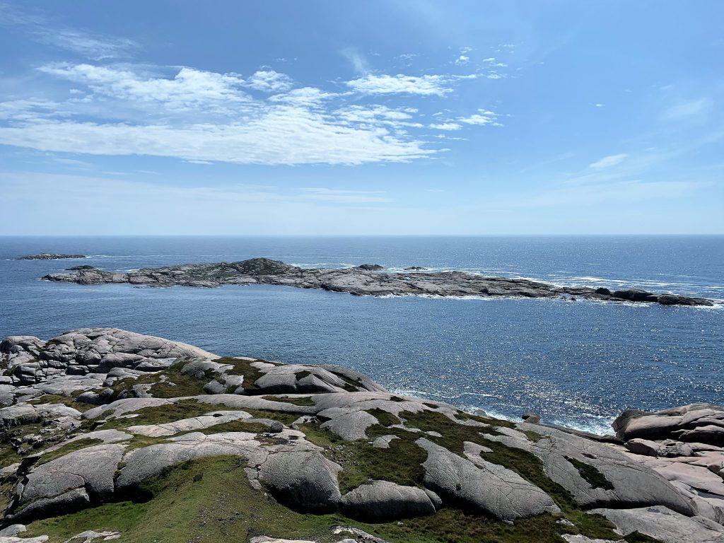 Ryvingen Fyr i Mandal er Norges sydligste - utsikt fra fyrtårnet