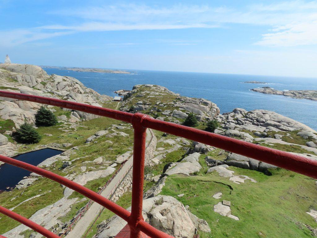 Ryvingen Fyr i Mandal er Norges sydligste - utsikten sydover fra fyrtårnet