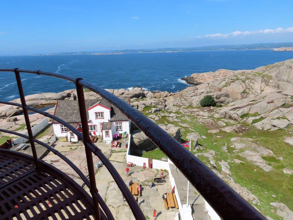 Utsikten fra tårnet innover mot Mandal